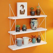 WELLAND 3-Tier Display Wall Shelf Storage Rack Wall Rack