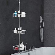 Tangkula Tension Corner Shower Caddy, Rustproof Stainless Steel