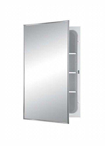 Jensen Basic Styleline Recessed Steel Medicine Cabinet, White