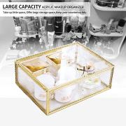 InnSweet Makeup Organizer Glass, Large Cosmetic Display Cases