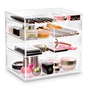 Ikee Design Acrylic Cosmetics Makeup and Jewelry Storage Case Display