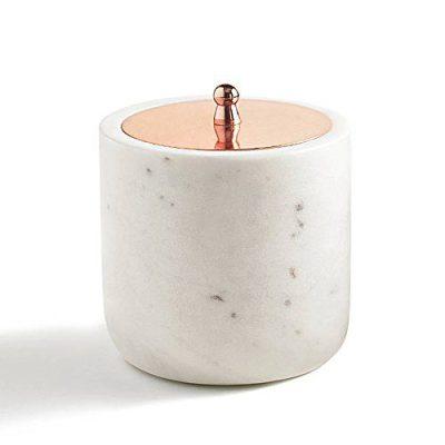 Cotton Jar, Kassatex Pietra Marble Bath Accessories