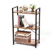 IRONCK Bookshelf, 3-Tier Ladder Shelf, Storage Rack Shelf Unit for Bathroom