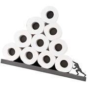 Artori Design Sisyphus   Metal Gray Shelf for Toilet Paper Rolls