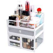 InnSweet Glass Makeup Cosmetic Organizer Holder