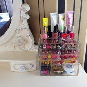Cq acrylic 5 Drawer Clear Makeup Organizer