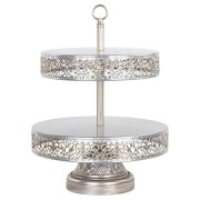 Amalfi Decor 2 Tier Dessert Cupcake Stand, Large Pastry Candy Cookie