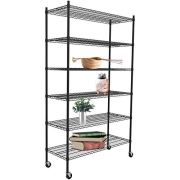 "SUNCOO 6 Tier 82"" H Strengthen Steel Utility Shelf Metal Organizer"
