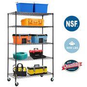 5-WireShelvingUnit Steel Large Metal Shelf Organizer Garage Storage
