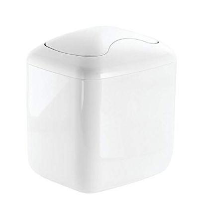 mDesign MetroDecor Wastebasket Trash Can for Bathroom Vanity Countertops
