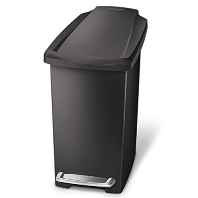 simplehuman 10 Liter / 2.6 Gallon Compact Slim Bathroom