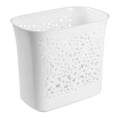 mDesign Decorative Oval Trash Can Wastebasket, Garbage Container Bin
