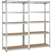 Yaheetech 2 Packs Heavy Duty 5-Shelf Commercial Garage Shelving Unit