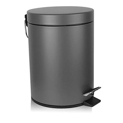 H+LUX Bathroom Trash Can, Round Mini Trash Can with Lid Soft Close