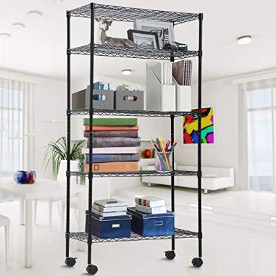 Storage Shelves Metal Wire Shelving Unit 5-Tier NSF Heavy Duty