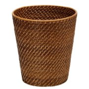 KOUBOO Round Rattan Waste Basket