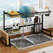 Over the Sink Dish Drying Rack, Drainage Rack for Kitchen Supplies