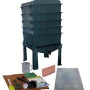 VermiHut 5-Tray Worm Compost Bin iTower-Green