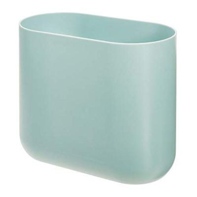 iDesign Cade Oval Slim Trash, Compact Waste Basket Garbage Can for Bathroom