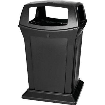 Rubbermaid Commercial Ranger Trash Can, 45 Gallon, Black