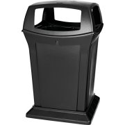 Rubbermaid Commercial Ranger Trash Can, 45 Gallon, Black