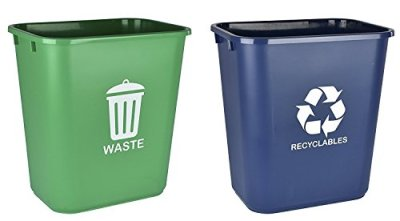 Acrimet Wastebasket for Recycling and Waste