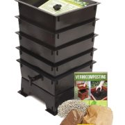 Worm Factory 4-Tray Worm Composter, Black