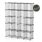 GEORGE&DANIS Wire Storage Cubes Metal Shelf Modular Organizer