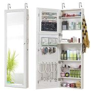 GISSAR Jewelry Mirror Armoire Wall Mount Over The Door Mirror Jewelry Cabinet