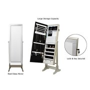 Inspired Home Radiant Full Length Jewelry Cheval Armoire Makeup Storage