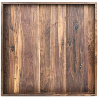 24 x 24 inches Ottoman Tray Extra Large Black Walnut Wood Trays