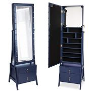 Beautify Lockable Floor Standing Make Up and Jewelry Cabinet Organizer