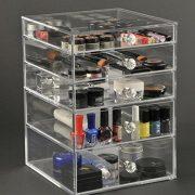 GlamoureBox Clear Makeup Organizer Storage Vanity Case