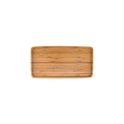 Organic Bamboo Tea Serving Tray - Rounded Edges