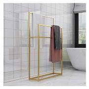 Wing Metal Free Standing Towel Rack, Large Towel Holder Stand for Bathroom
