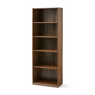 Blue Bright 5 Shelf Bookcase Bookshelf Closed Back Adjustable Storage Shelves