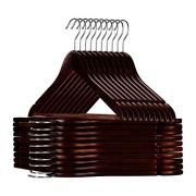Furgle Wood Suit Hangers, Smooth Finish Clothes Hangers