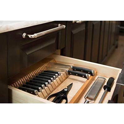 Rev-A-Shelf 2 Row Trimmable Knife Block Drawer Organizer Insert