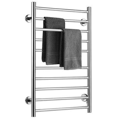 BestComfort Wall Mounted Heated Towel Warmer, 10 Bars Stainless Steel