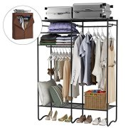 LANGRIA Extra-Large Heavy-Duty Zip Up Closet Shoe Organizer