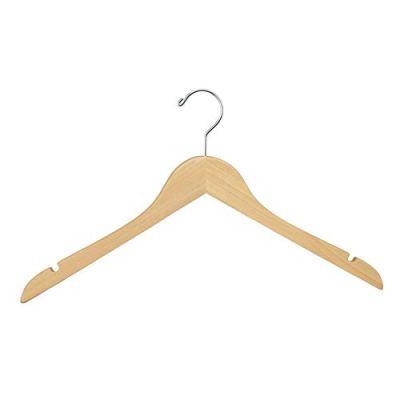 Wood Hangers (Pack of 100) - Wishbone Wooden Retail Hanger