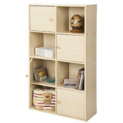 Furinno Pasir 4-Tier Shelf with 4 Door/Round Handle