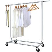 Camabel Clothing Garment Rack Heavy Duty Adjustable Rolling