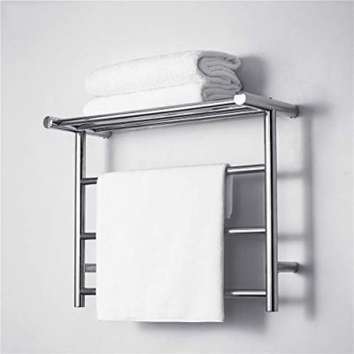 XSGDMN Towel Warmer with Top Shelf, Wall Mounted Stainless Steel