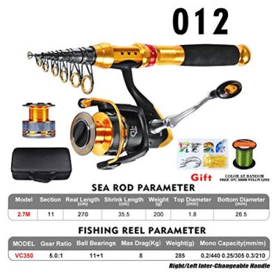 Fishing Rod and Reel Combos Carbon Blacgic Fishing Rod Telescopic Rod