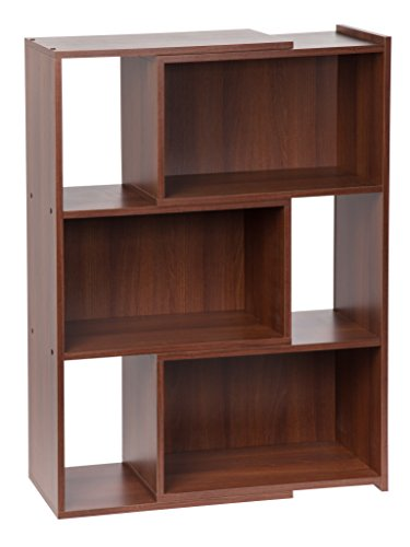 IRIS 42-Inch Wide Expandable Bookcase, Dark Brown