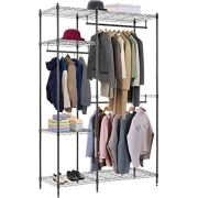 Hanging Closet Organizer and Storage Heavy Duty Clothes Rack Sturdy