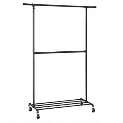 SONGMICS Industrial Style Clothes Garment Rack on Wheels