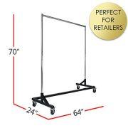 Commercial Garment Rack (Z Rack) - Rolling Clothes Rack