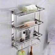 ZfgG Bathroom Shelves Shower Caddy SUS Stainless Steel Bathroom